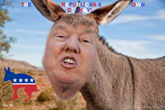 The republican's own donkey