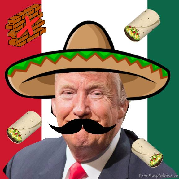 Donald Trump loves Mexicans | Face Swap Online