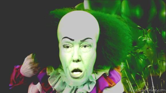 donald trump and a clown