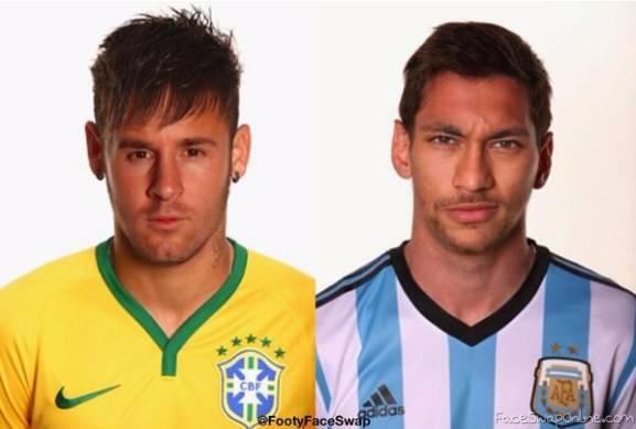 face swap neymar messi