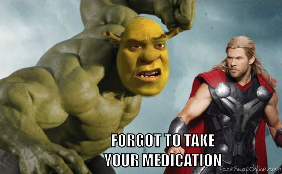 Shrek vs Thor