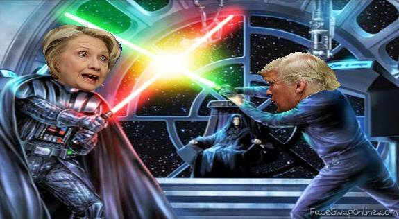 Darth Hillary v/s Trump Skywalker