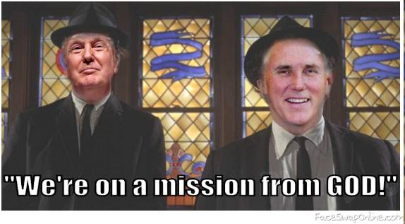 """We're on a mission from GOD!"""