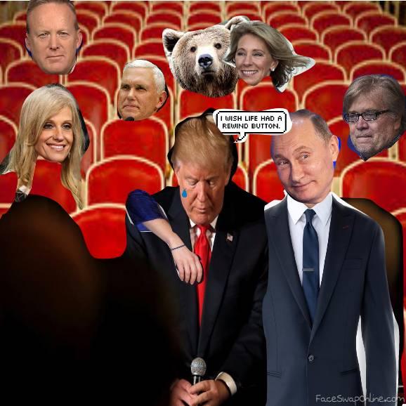 Trump Watching the News
