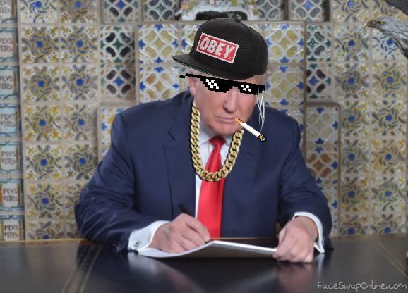 Trump writing his own inaugural speech like a boss