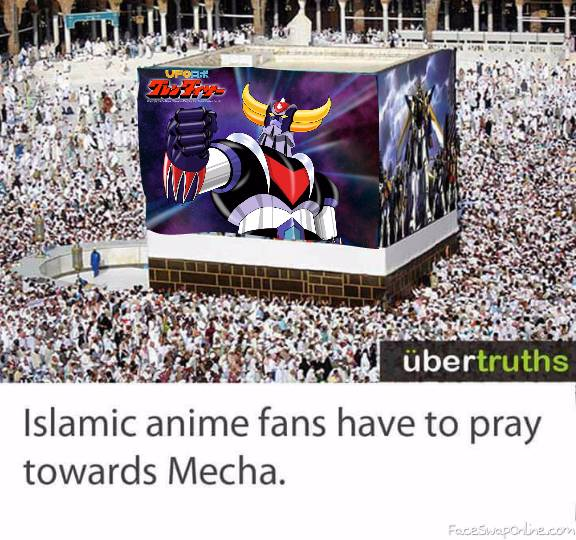 Islam pray to Mecha