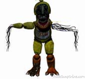 faceless withered chica