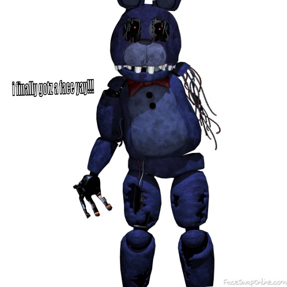 withered bonnie with a face