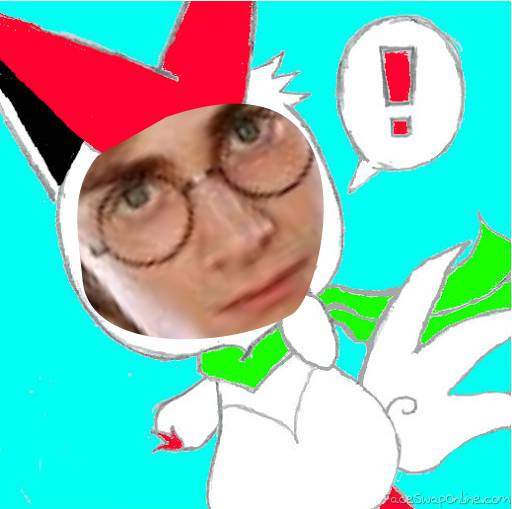 Harry + Victini = ;w; (Credit to my friend Rachel for the Victini)