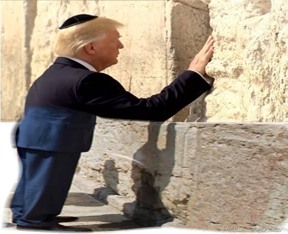 trump taking a leak