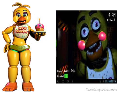 chica and toy chica swap