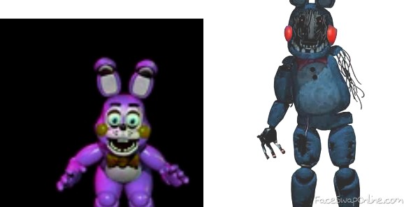 toy bonnie and withered bonnie swap