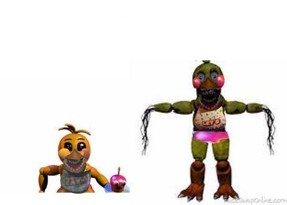 toy chica and withered chica swap