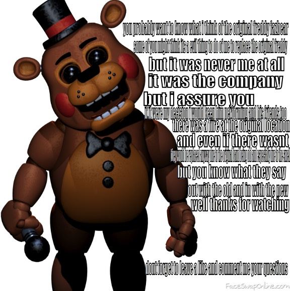 toy freddy in.....the original freddy