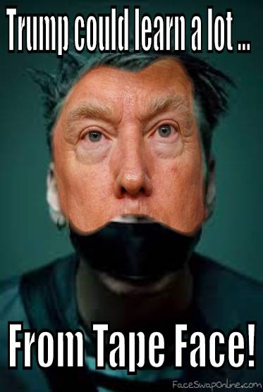 Trump Tape Face