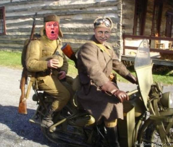 putin trump riders