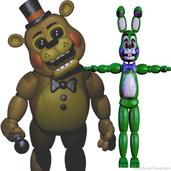 toy fredbear and toy springbonnie