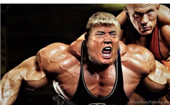 Bodybuilder Trump