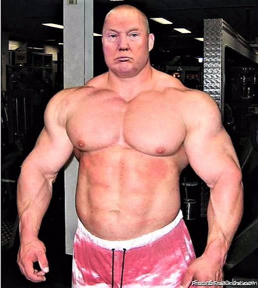 Bodybuilder Trump