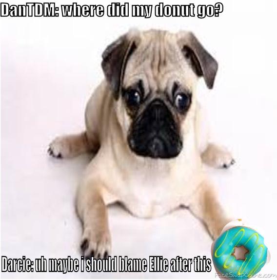 Darcie Steals DanTDM's donut