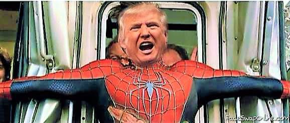 SpiderTrump Saves Train