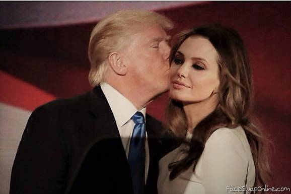 Trump kisses Angelina