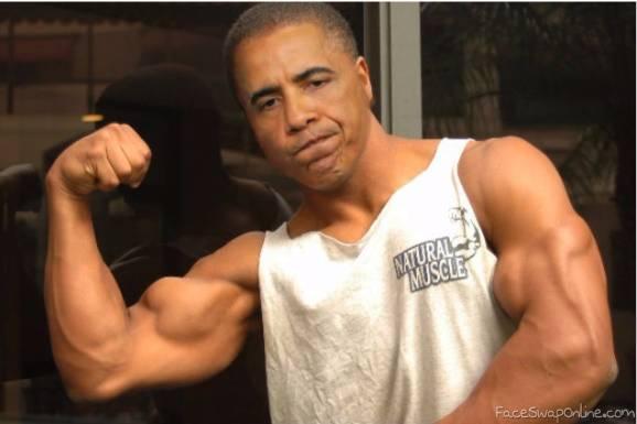 Muscular Obama