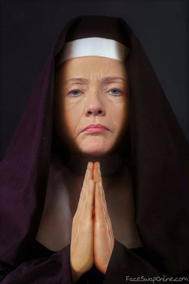Hillary turns to God
