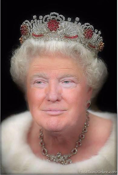 Queen Elizabeth Trump Face Swap Online