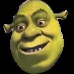 Shrek smiling ears down