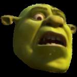 Freaked out Shrek