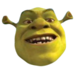 Laughing Shrek
