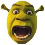 Frightened Shrek