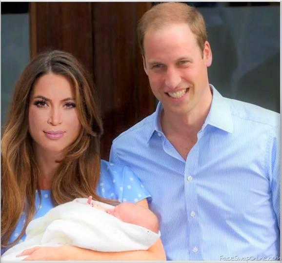 Prince William and Kim Kardashian have a Baby