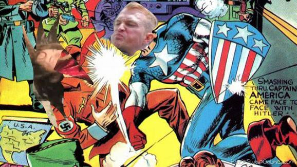 Captain Alt-Right punching AntiFa Hitler