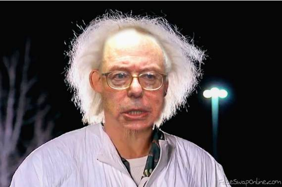 Doc Brown feeling the Bern