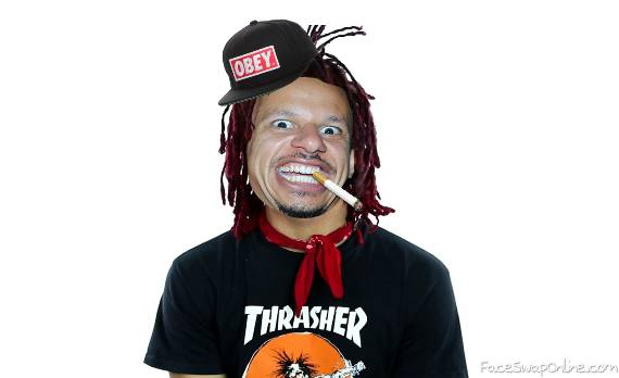 Eric Andre Trippie Red Face Swap