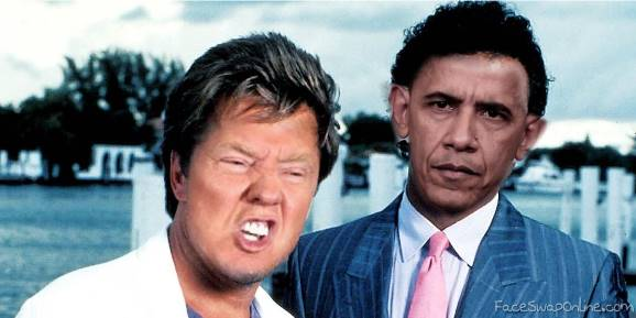 Miami Vice starring Trump and Obama