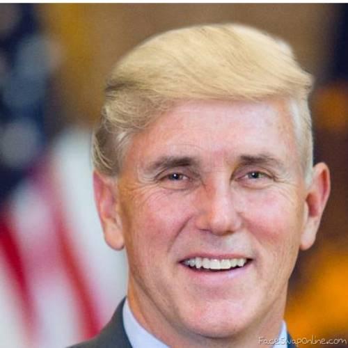 Pence gets Trump hair