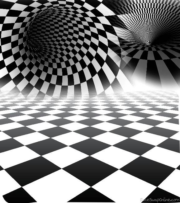Checkered portal dimension