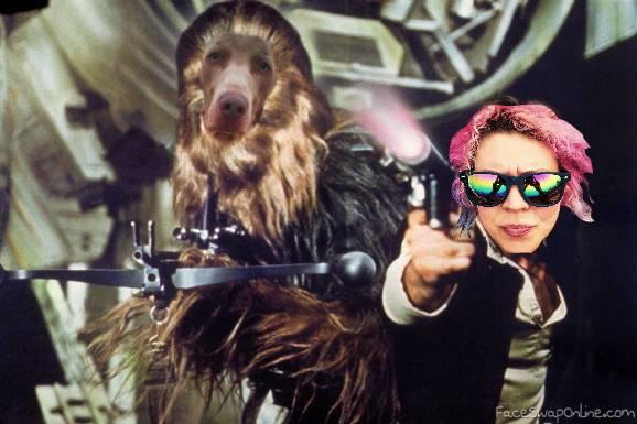 Susan Skywalker and Huwbacca