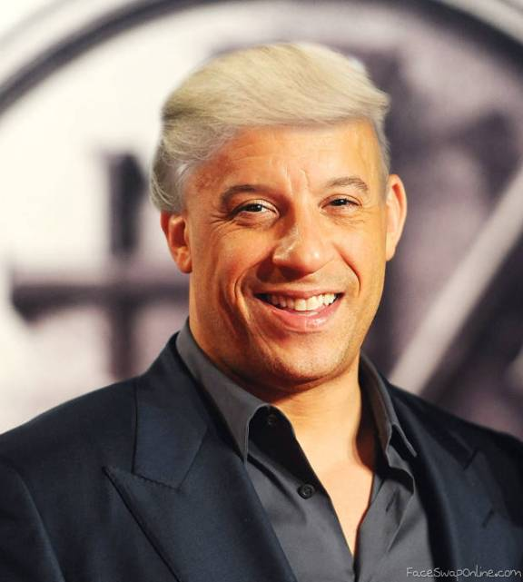 Vin Diesel goes Trump hair