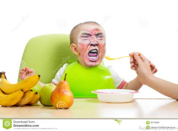 trump's not eating his food!