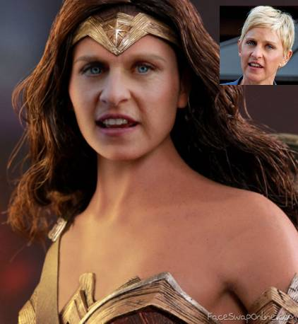 Ellen as Wonder Woman