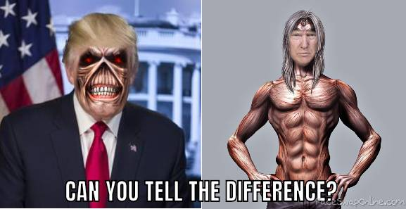 Eddie and Donald Trump Face Swap