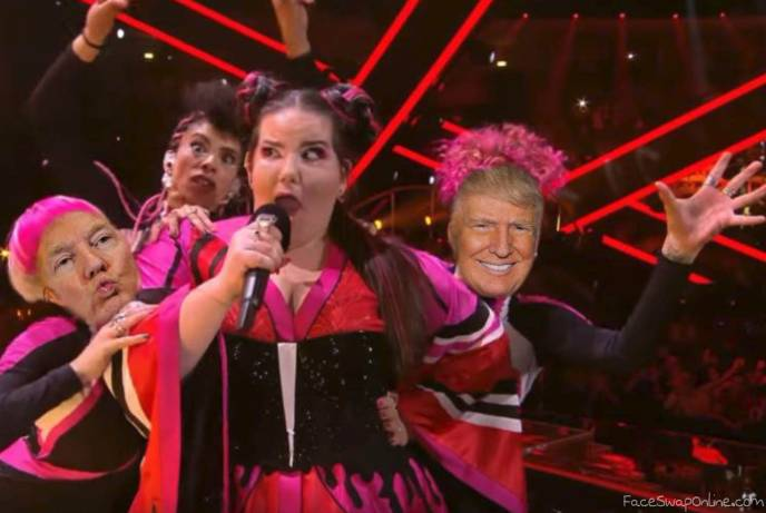 Trump interrupts Eurovision final invading the stage