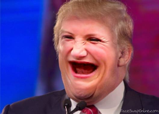 Trump without makeup or teeth