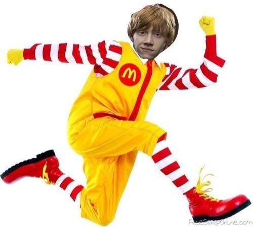 ron weasley as ronald mcDonald