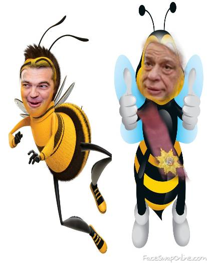the bees .prime minister and Greek president