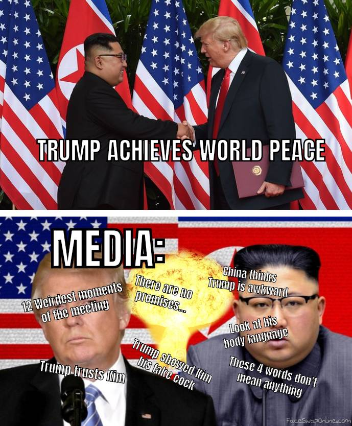 Trump achieves world peace